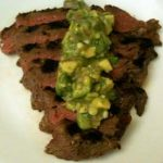 Flank Steak with Tangy Avocado Sauce