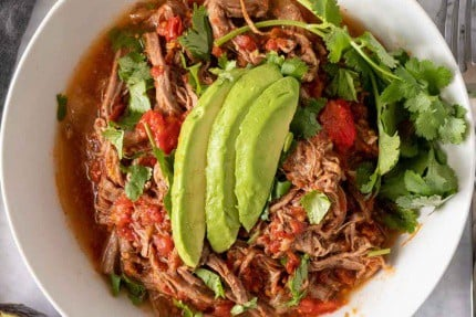 Bowl of Cuban braised beef