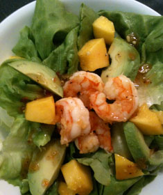 Shrimp, Mango & Avocado Salad with Sweet Chili Ginger Vinaigrette