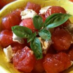 Watermelon Salad with Goat Cheese and Basil