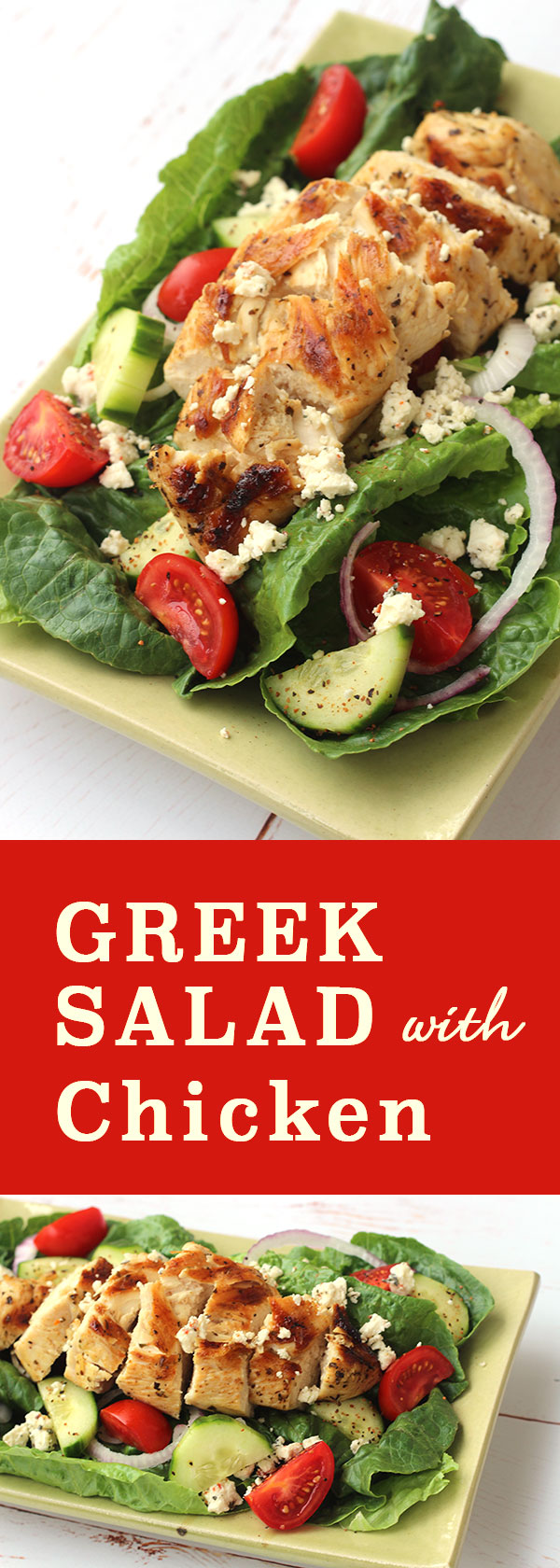 Greek Salad with Chicken | diabeticfoodie.com