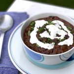 Black Bean Soup with Cilantro-Lime Cream