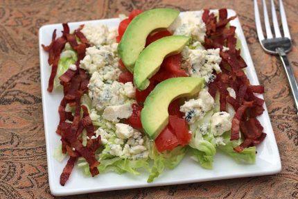 Cobb Salad: Iceberg, Tomato, Avocado, Bacon, and Blue Cheese