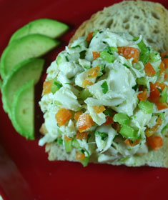 Crab Salad with Lime and Avocado from Salad as a Meal