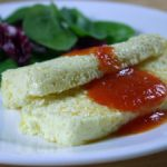 Ricotta, Parmesan and Lemon Zest Terrine with Fresh Tomato Sauce