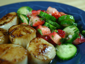 Grilled Swordfish with Strawberry-Cucumber Salsa ...