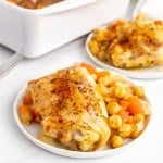Baked Chicken Thighs with Chickpeas and Tomatoes