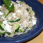 Zucchini Orzo Salad with Mint