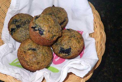 Cherry Wheat Germ Muffins