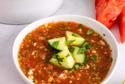 Grilled Watermelon Gazpacho