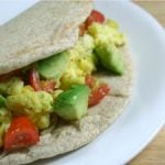 Breakfast Burrito with Cherry Tomato-Avocado Salsa