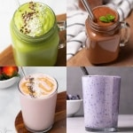 Collage of diabetic smoothies