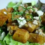 Spiced Pumpkin, Lentil and Goat Cheese Salad