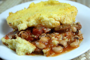 Welcoming 2012 with Black-Eyed Pea Polenta Casserole