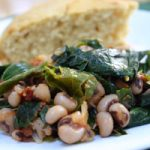 Collard Greens with Black-Eyed Peas and Tomatoes