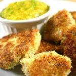 Turkey Tenders on a plate with dipping sauce