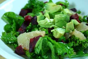 Beet, Avocado and Grapefruit Salad with Fruity Vinaigrette