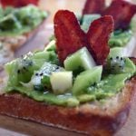 Avocado Toasties with Kiwifruit Salsa