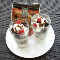 Parfaits with Paleo People granola, yogurt and berries