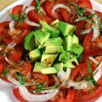 Tomato Avocado Salad with Berry Orange Vinaigrette