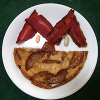 Apple Pancake funny face