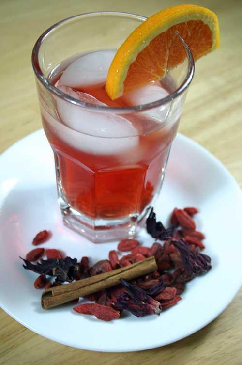 Citrus Tea with Hibiscus and Goji Berries