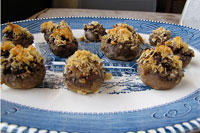 Buffalo Andouille Stuffed Mushrooms from Miss in the Kitchen