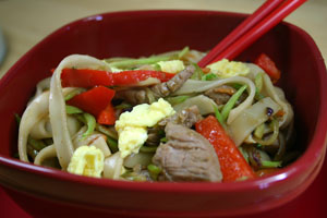 Lo Mein with Pork Tenderloin