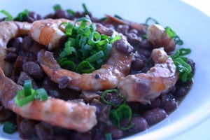 Red Beans with Buffalo Andouille and Shrimp