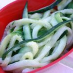 Zucchini Spaghetti Salad with Creamy Lemon-Chive Dressing