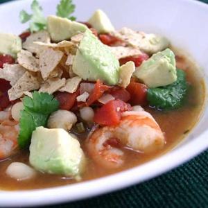 Spicy Shrimp Soup with Avocado