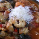 Tortellini Soup with Cannellini Beans and Spinach