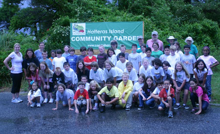 3rd graders from Cape Hatteras Elementary School