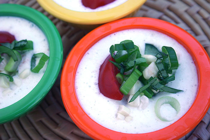 Chilled Cucumber and Summer Vegetable Soup - Diabetic Foodie