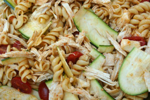 Garden Pasta Salad with Chicken