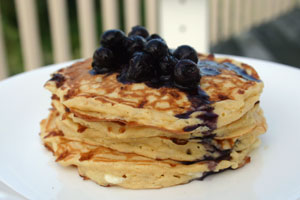 Light as a Feather Pancake with Berry Sauce