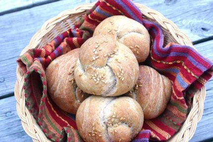 Whole Wheat Flax Dinner Rolls