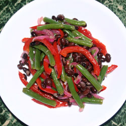 Bean Salad with Pickled Vegetables