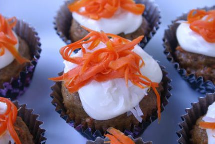 Carrot Cupcakes for #SundaySupper