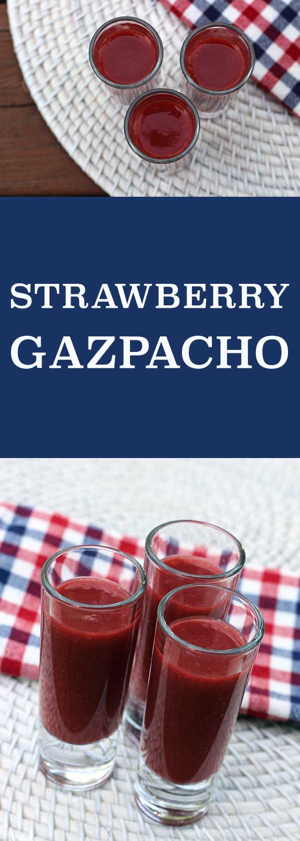 Strawberry Gazpacho | diabeticfoodie.com