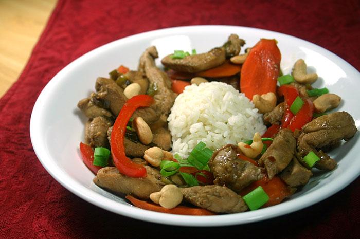 Chicken Cashew Stir-fry in 30 minutes