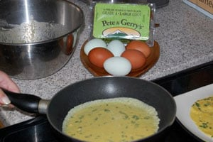 Making chickpea crepes (gluten-free)