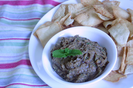 Roasted Eggplan and Onion Dip