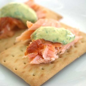 Smoked Salmon with Dill-Mustard Sauce