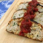 Chicken Apple Meatloaf with Tarragon Tomato Sauce