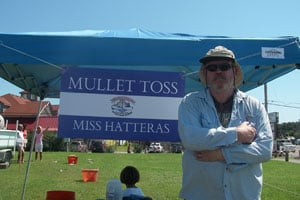 Mullet Toss at Day at the Docks, Hatteras NC