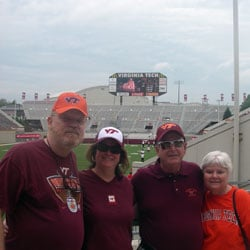 Attending Virginia Tech Hokies game