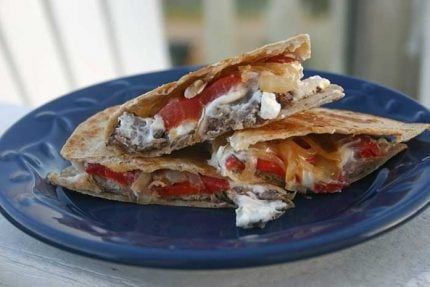 Grilled Steak Quesadillas with Goat Cheese