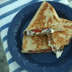 Grilled Steak and Goat Cheese Quesadilla