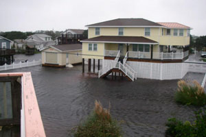 Sandy flooding in Avon NC